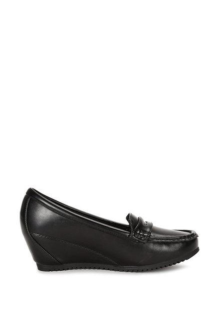 Buy Allen Solly Black Wedge Loafers for