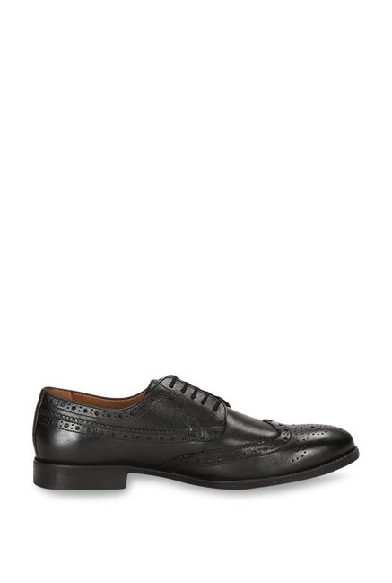 29984d50ff7 Buy Van Heusen Black Brogue Shoes for Men at Best Price   Tata CLiQ