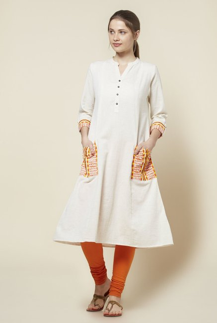 Zudio Off White Kurta