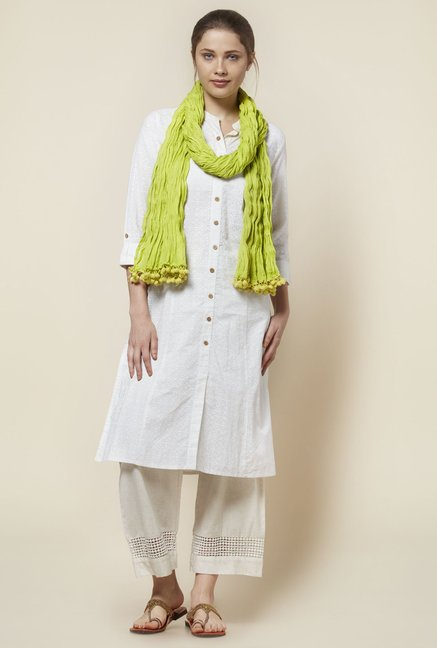 Zudio Lime Green Crush Dupatta