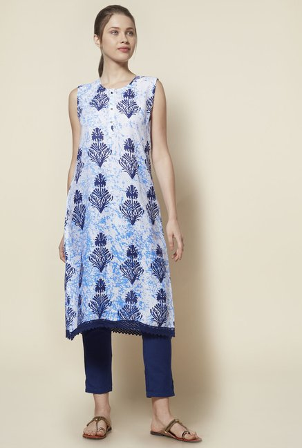 Zudio Blue Kurta