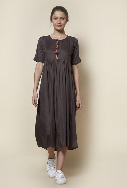 6e27efea59 Buy Zudio Grey Slim Fit Tassel Dress for Women Online @ Tata CLiQ