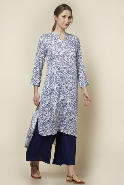 Zudio Blue Printed Kurta