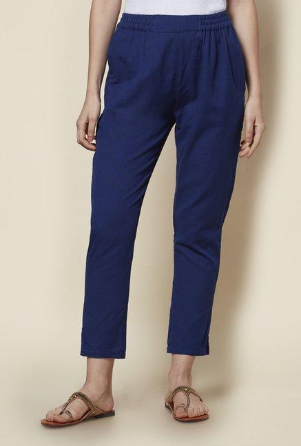 93a29b2a4d Buy Zudio Navy Slim Fit Ethnic Pants for Women Online @ Tata CLiQ