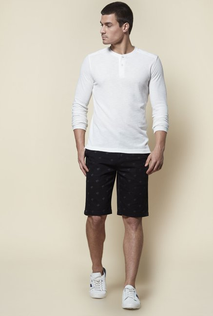 Zudio White Regular Fit T-Shirt