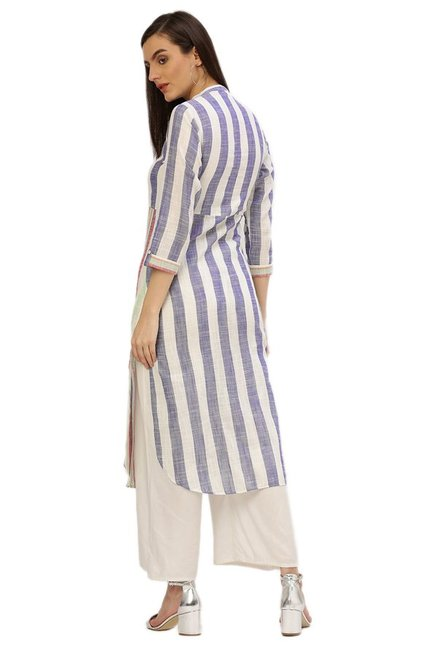 Desi Fusion Multicolor Striped Kurta