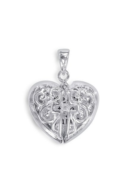 Buy taraash sterling silver filigree heart pendant for women at best taraash sterling silver filigree heart pendant aloadofball Gallery