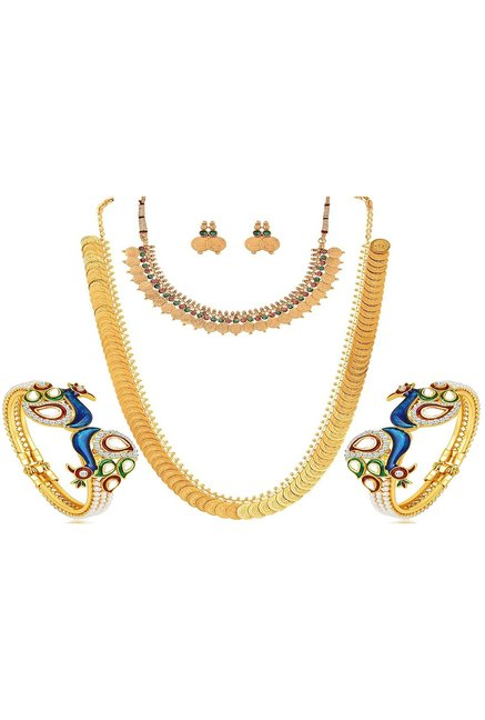 e030ea7a0fa45 Buy Youbella Maharani Temple Coin Necklace Set at Best Price ...