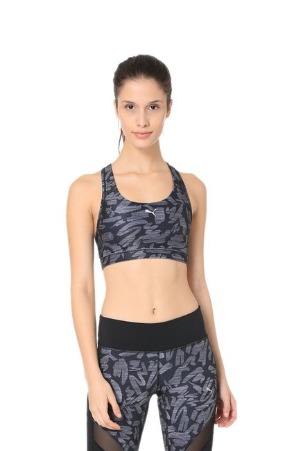 Puma Black Printed PWRSHAPE Forever Sports Bra