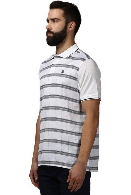 c40804d72b5 Buy Raymond White Half Sleeves Checks T-Shirt for Men Online ...