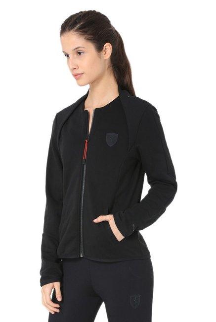 Buy Puma Black Full Sleeves Ferrari T7 Jacket for Women
