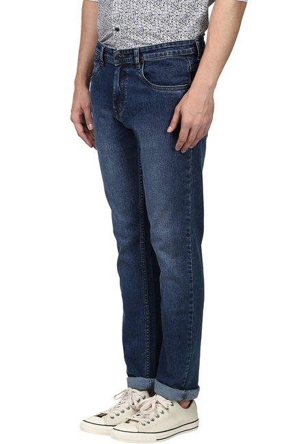 6830c4f7 Buy Raymond Dark Blue Slim Fit Jeans for Men Online @ Tata CLiQ
