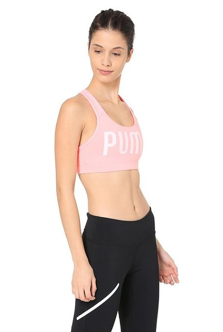 Puma Peach Printed PWRSHAPE Forever Sports Bra