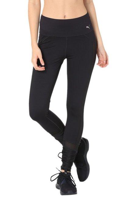 eb7cc461c2d09 Buy Puma Black Polyester PWRLUX Tights for Women Online @ Tata CLiQ