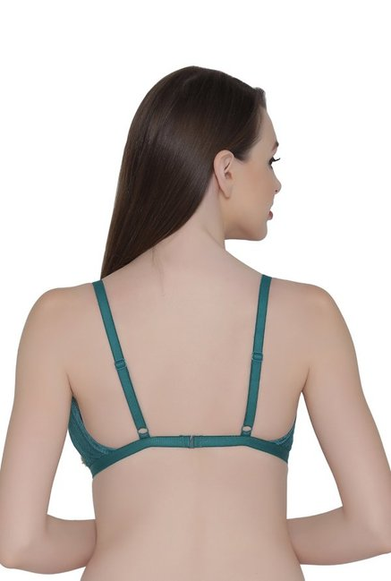 Clovia Teal Non Wired Non Padded Bralette