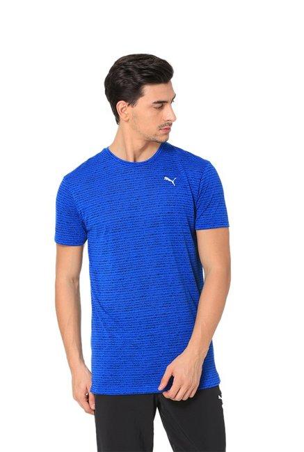 Buy Puma Blue Striped T-Shirt for Men Online   Tata CLiQ 078fa2547
