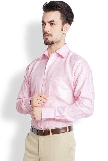 13ab8e4b8c5 Buy Raymond Light Pink Contemporary Fit Shirt for Men Online   Tata CLiQ