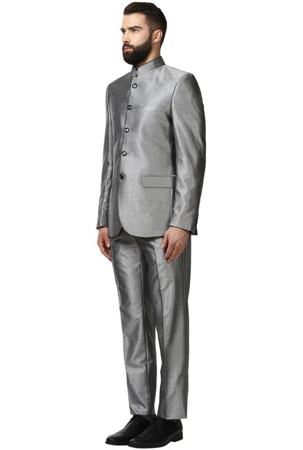 5c1a3ad2bd1e8 Buy Raymond Grey Contemporary Fit Suit for Men Online @ Tata CLiQ