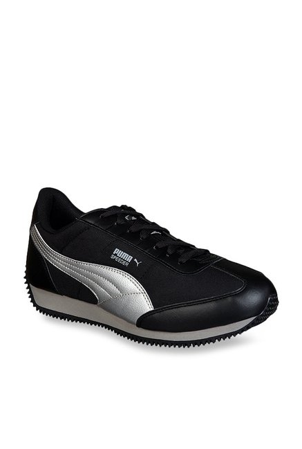 d71c2f4f91d6 Buy Puma Speeder Tetron II Ind Black   Silver Running Shoes for Men ...
