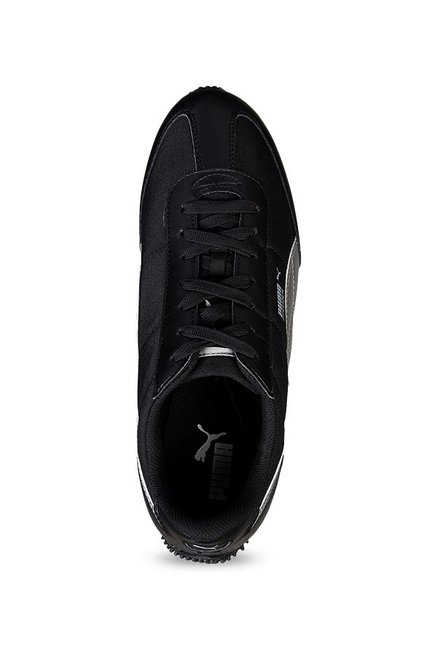 60cea6d18349a1 Buy Puma Speeder Tetron II Ind Black   Silver Running Shoes for Men ...