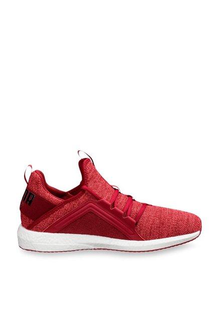 9185b802bace Buy Puma Mega NRGY Knit Red Dahlia Running Shoes for Men at Best Price    Tata CLiQ