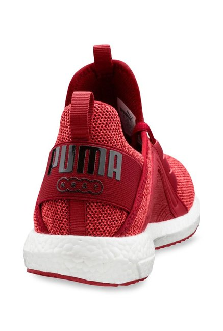 2049a6ef473 Buy Puma Mega NRGY Knit Red Dahlia Running Shoes for Men at Best ...
