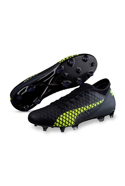 e9db6c2bd721 Buy Puma Future 18.4 FG AG Black   Fizzy Yellow Football Shoes for ...