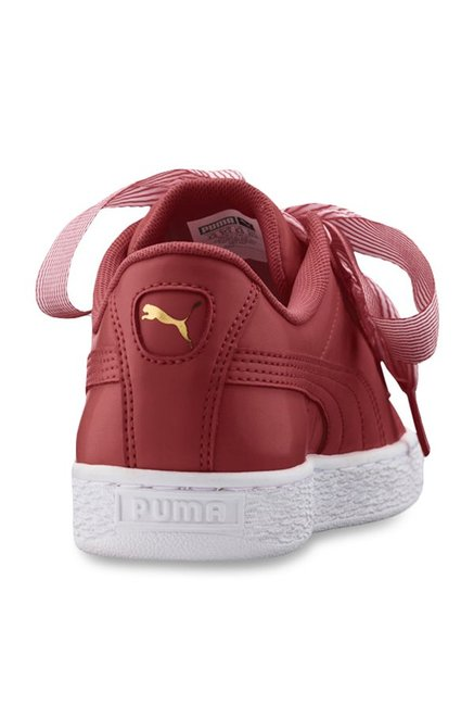 promo code b6bb2 7d02c Buy Puma Basket Heart Red Sneakers for Women at Best Price ...
