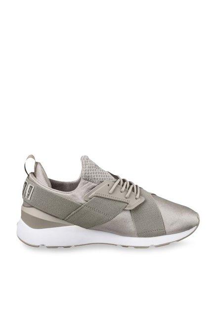 5e65b2a1d0fe Buy Puma Muse Satin EP Rock Ridge Sneakers for Women at Best Price   Tata  CLiQ