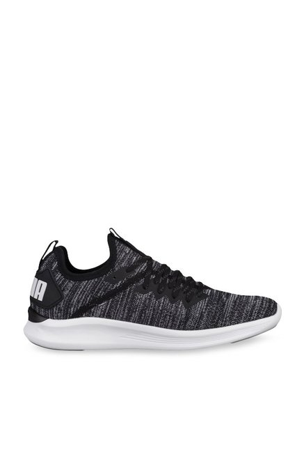 350b2f3398d9 Buy Puma Ignite Flash evoKNIT Black   Asphalt Grey Running Shoes for Women  at Best Price   Tata CLiQ