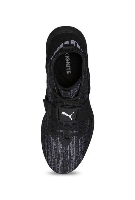 super popular 44fa3 90a76 Buy Puma Ignite evoKNIT 2 Black & Asphalt Grey Running Shoes ...