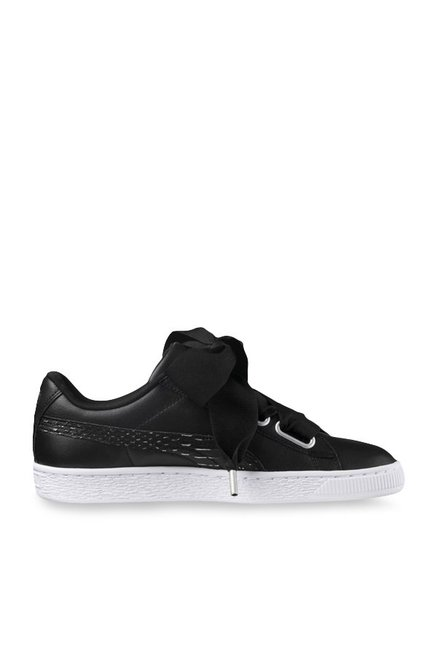 new concept 6b9f6 3803f Buy Puma Basket Heart Oceanaire Black Sneakers for Women at ...