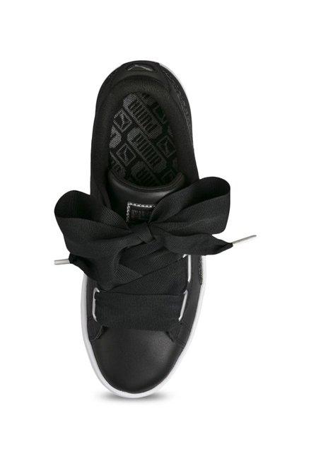 new concept 33d2c e8e6c Buy Puma Basket Heart Oceanaire Black Sneakers for Women at ...