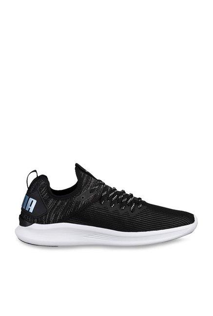 d1f360792c97 Buy Puma Ignite Flash evoKNIT Stripped Black Running Shoes for Men at Best  Price   Tata CLiQ