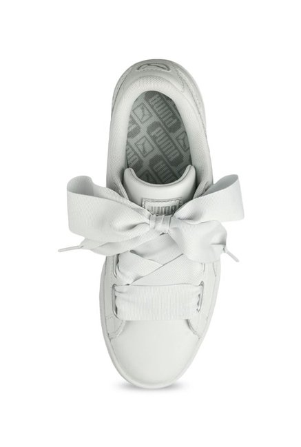 detailed look e7fa5 3f0da Buy Puma Basket Heart Oceanaire White Sneakers for Women at ...