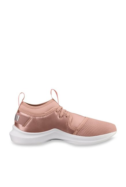 93ba1780a27 Buy Puma Phenom Low Satin EP Peach Training Shoes for Women at ...