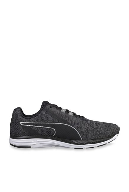Buy Puma Speed 500 Ignite 3 Black Running Shoes for Men at Best Price    Tata CLiQ 16acfaf35