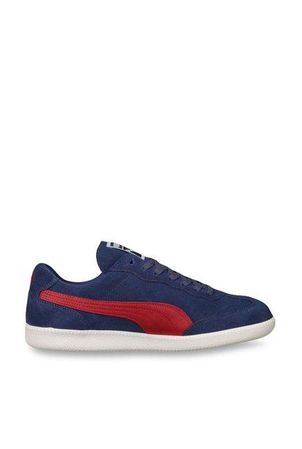 979f3de4cabfed Buy Puma Liga Suede Blue Indigo   White Sneakers for Men at Best Price    Tata CLiQ