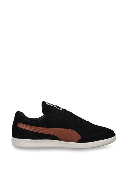 Buy Puma Liga Suede Black & White Sneakers for Men at