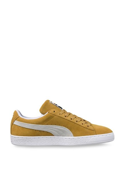 ff94505daf12 Buy Puma Classic Honey Mustard   White Sneakers for Men at Best Price    Tata CLiQ