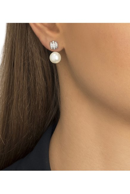 1622db004967 Buy Swarovski Perpetual Silver Drop Earrings Online At Best Price ...