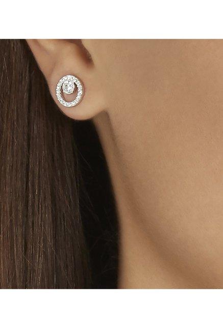 ea62121e9 Buy Swarovski Creativity Circle Silver Stud Earrings Online At Best ...