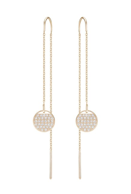 272fb2658 Buy Swarovski Ginger Chain Rose Sui-Dhaga Earrings Online At Best Price @  Tata CLiQ
