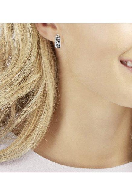 e54945eaab92a Buy Swarovski Crystaldust Silver Huggies Earrings Online At Best ...