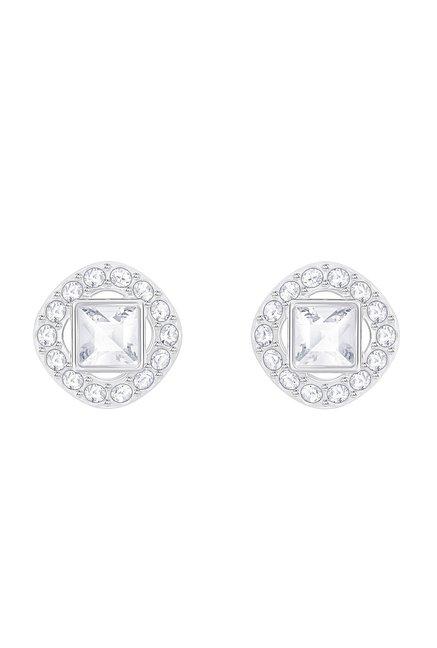 47db3255b Buy Swarovski Angelic Square Silver Stud Earrings Online At Best ...