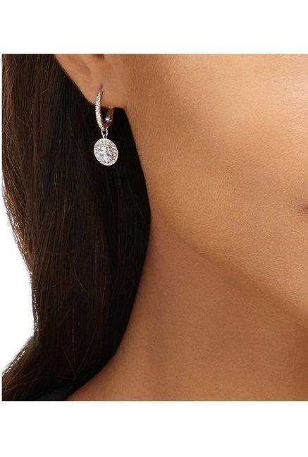 53d91db117663 Buy Swarovski Attract Light Silver Drop Earrings Online At Best ...