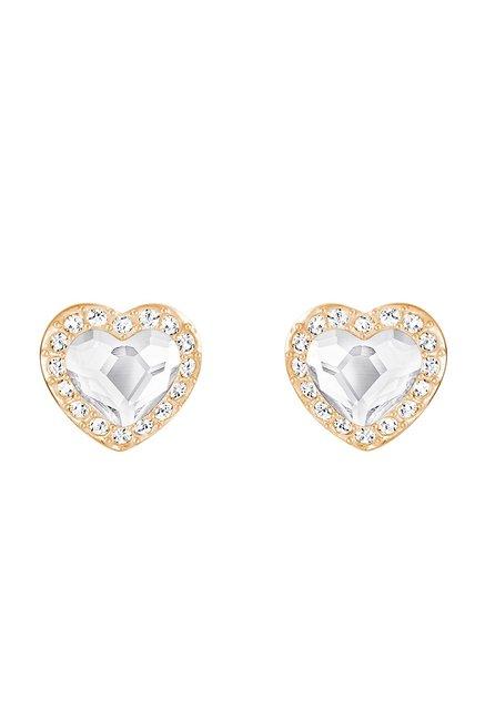732320916 Buy Swarovski Engaged Rose Stud Earrings Online At Best Price @ Tata CLiQ
