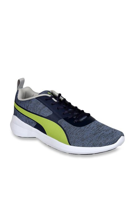 e14a7872de8 Buy Puma Styx Evo IDP Grey   Lime Green Running Shoes for Men at Best Price    Tata CLiQ
