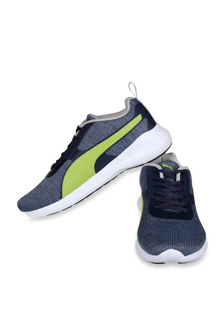 b7062cc9f5c Buy Puma Styx Evo IDP Grey   Lime Green Running Shoes for Men at ...