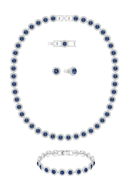 3522d0fb8 Buy Swarovski Angelic All Around Silver Necklace & Earrings Set Online At  Best Price @ Tata CLiQ